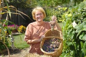 Carol with harvest